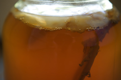 Close-up during brewing - you can see it bubbling.