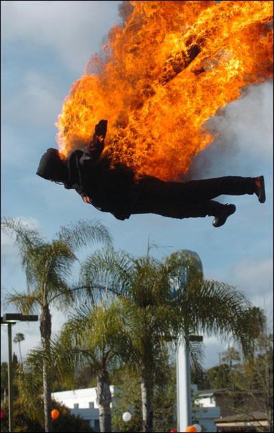 stuntmanonfire