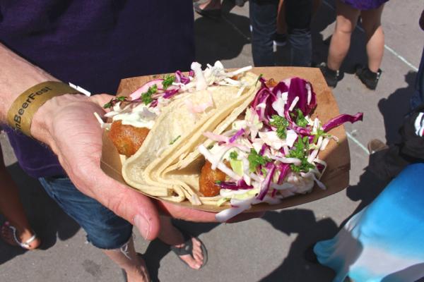 LA Vegan Beer Fest tacos
