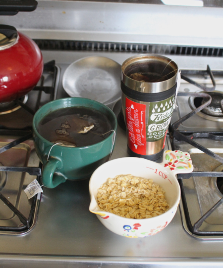 tea and oatmeal