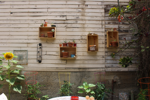 wine box wall planters diy garden