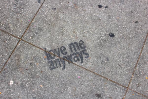 LA sidewalk graffiti