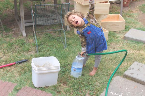 children veganic gardening