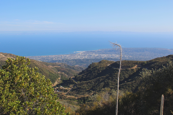on top of a mountain in santa barbara