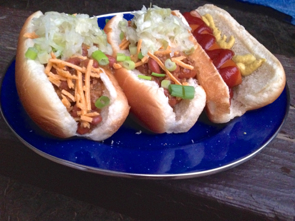 vegan camping hot dogs