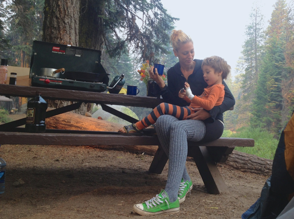 vegan family camping