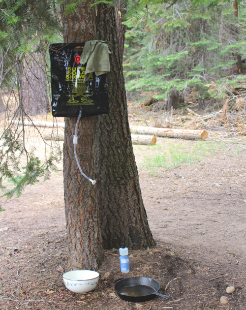 camping dish washing station