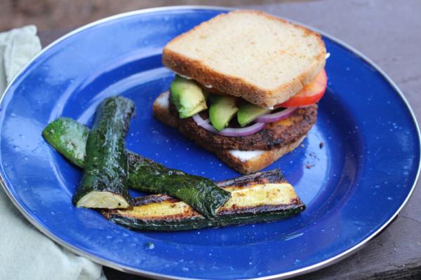 camping gluten free vegan
