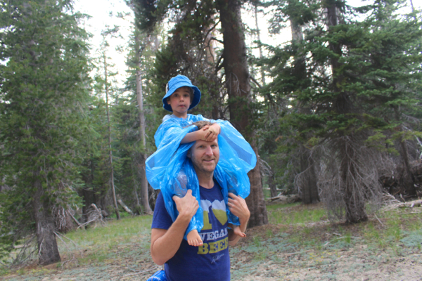 camping hiking yosemite rain