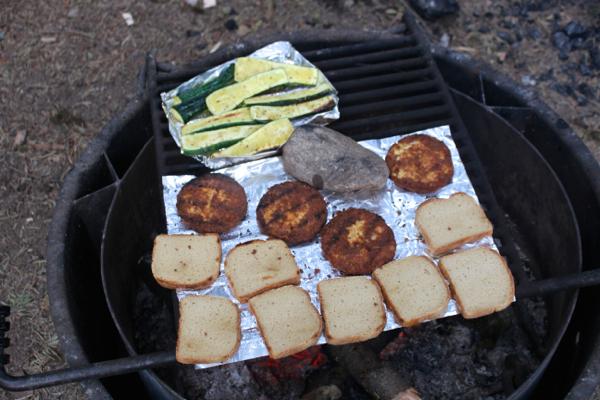 camping vegan grilling