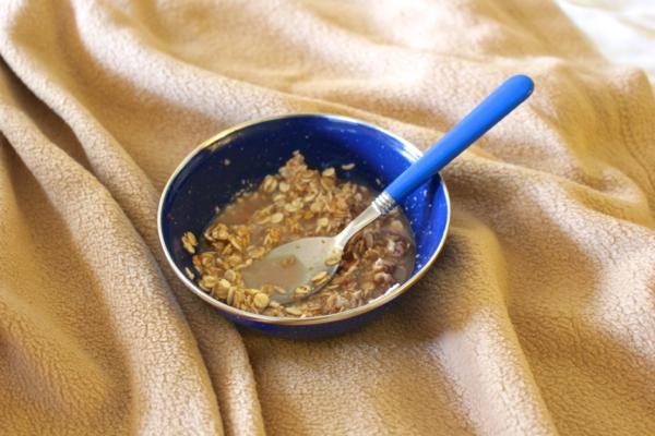 hotel room oatmeal
