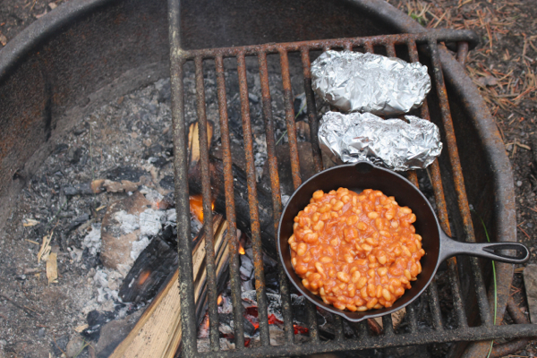 vegan camping cooking