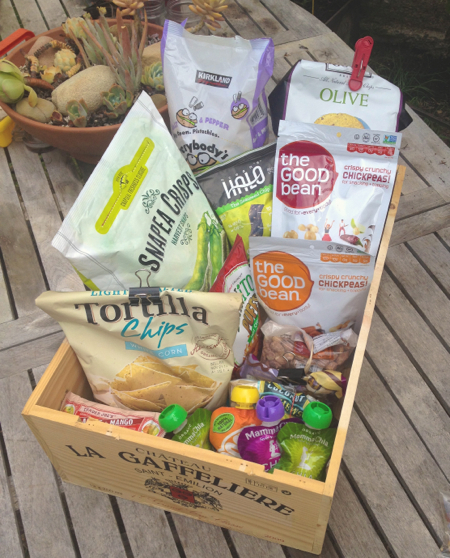 vegan camping snack box
