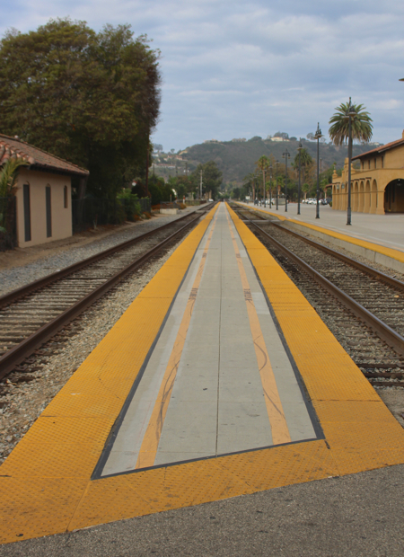 train station tracks