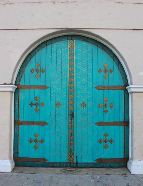 mural arched door