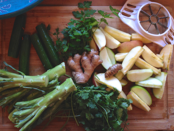 fixins for green juice