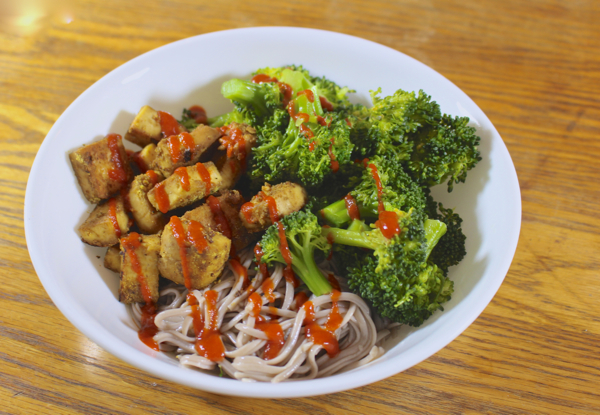 sesame noodle bowl