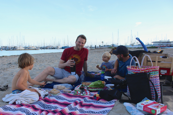 birthday beach picnic