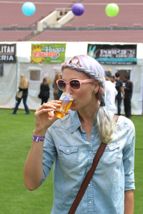 drinking beer vegan beer fest