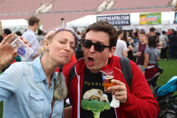 empty beer vegan beer fest