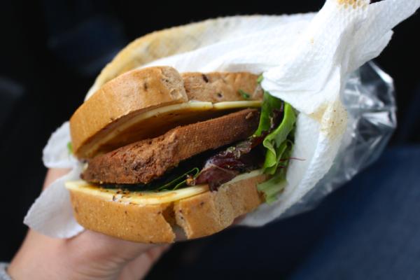 gluten free tofu sandwich