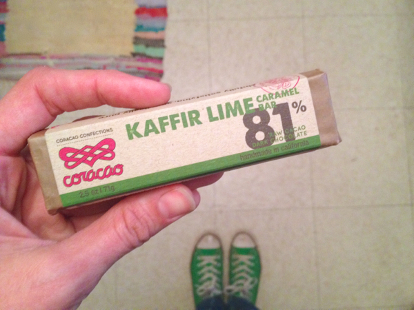 kafir lime caramel chocolate bar