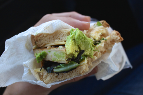 tofu avocado sandwich
