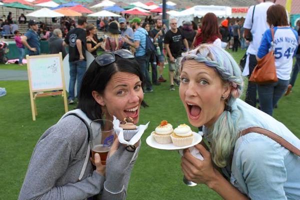 vegan beer fest cupcake