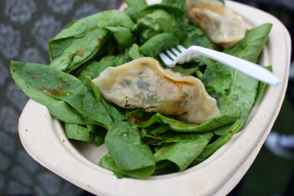 vegan beer fest dumplings