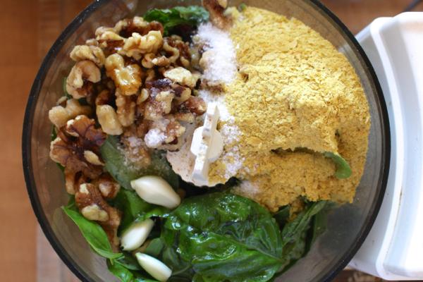 homemade vegan pesto