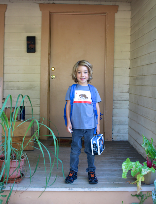 Waits First Day Of Kindergarten