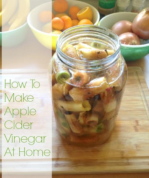 How to make apple cider vinegar at home from leftover apple scraps bonzai aphrodite - Homemade vinegar recipes ...
