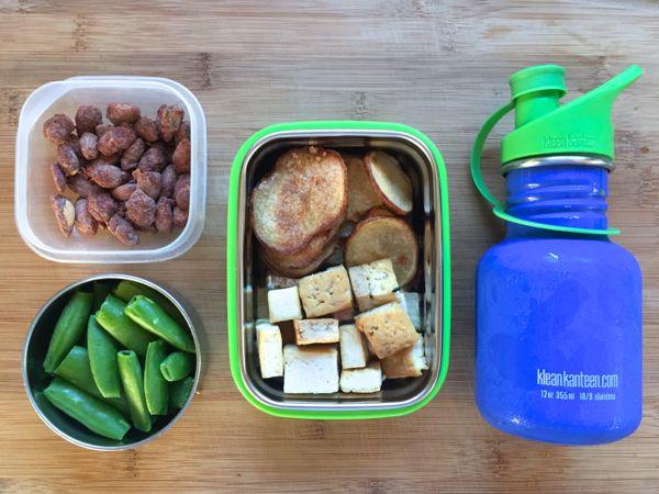 healthy homemade vegan lunch