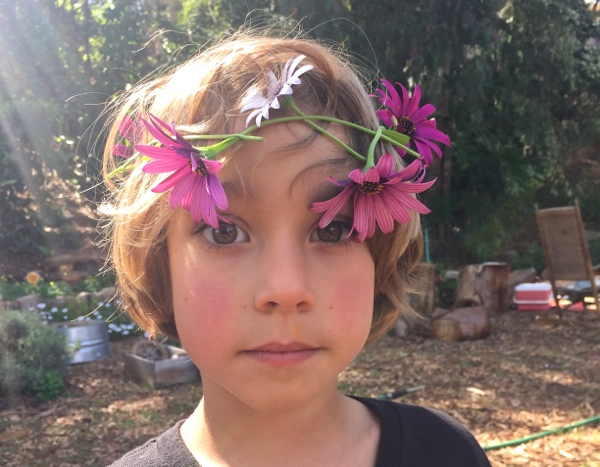 little boy flower crown