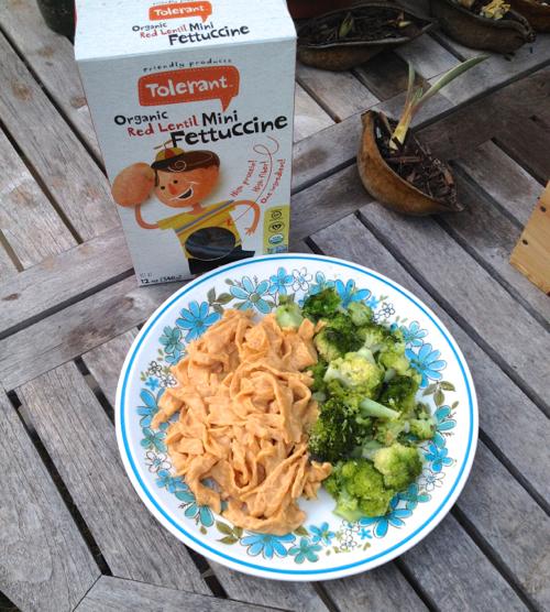 red lentil pasta